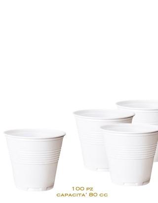 Bicchierini Monouso Bianchi da Caffè 100 Pezzi